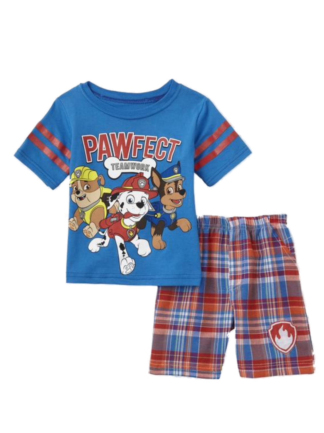 Nickelodeon Infant & Toddler Boys Paw Patrol Team Baby Outfit Plaid Shorts