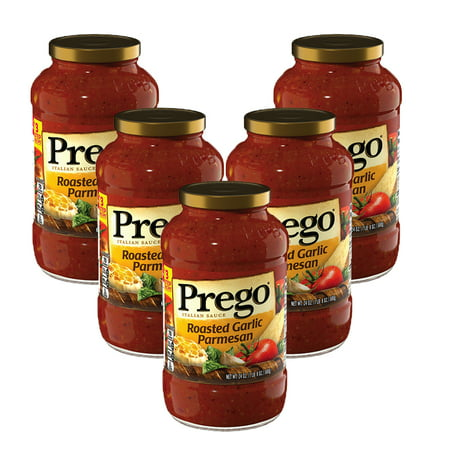 - (5 Pack) Prego Roasted Garlic Parmesan Italian Sauce, 24 oz.