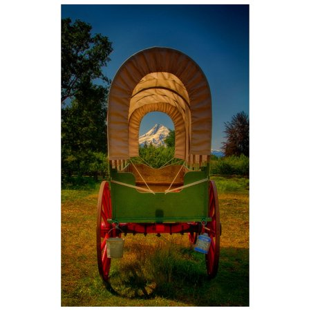 - Kate's Covered Wagon, Oregon Trail Travel Art Print Poster by Nicholas Bielemeier (12