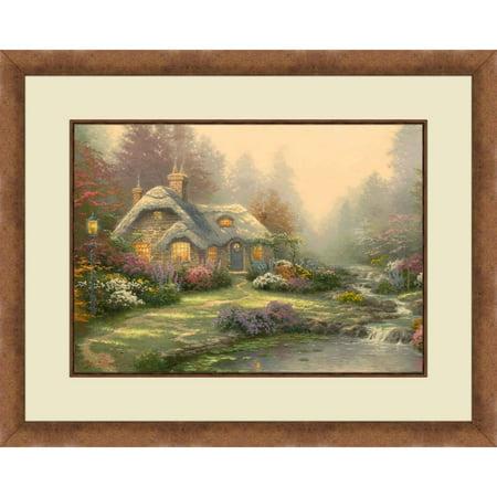 Thomas Kinkadeeveretts Cottage Gold Colored Frame 20x16