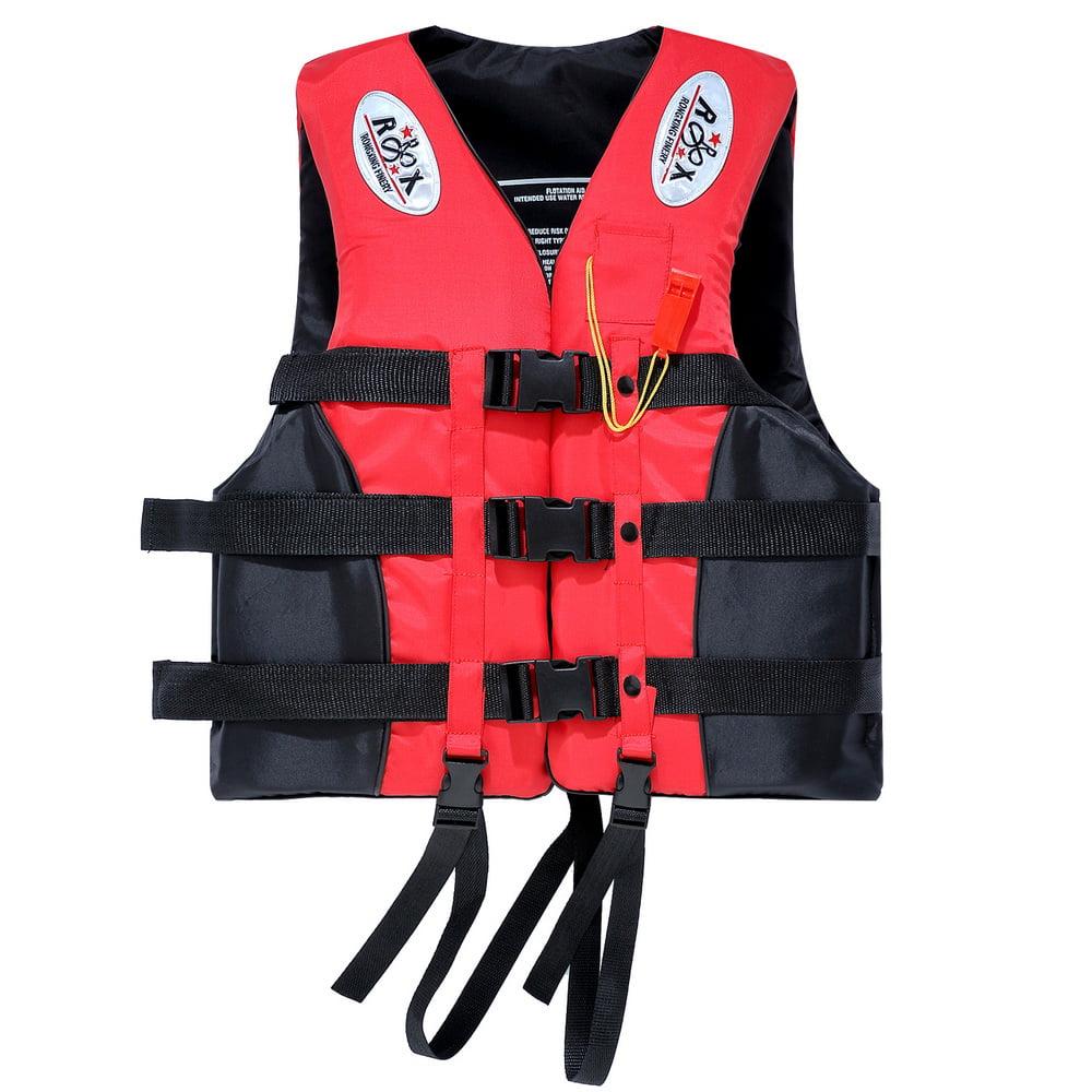 Boat Universal Buoyancy Aid Sailing Kayak Fishing Life Jacket Vest Oxford Red us