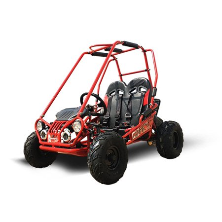 Red TrailMaster Mini XRX Plus Upgraded Go Kart with Bigger Tires, Frame, Wider - Mini Tires