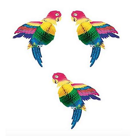 Tissue Parrot Decoration, Set of 3