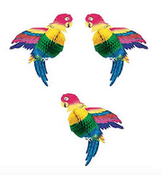 Tissue Parrot Decoration, Set of 3