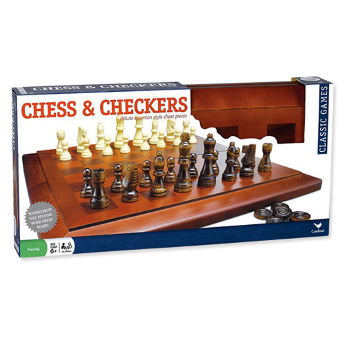 Wood Chess and Checkers Set