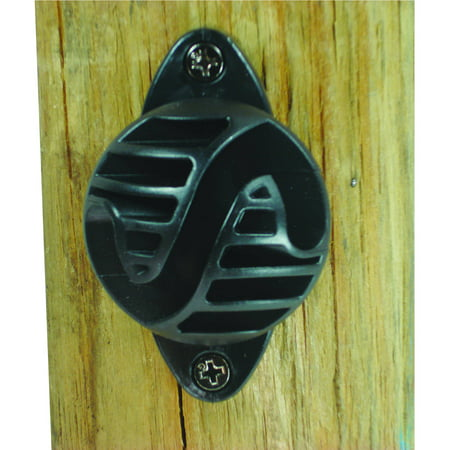 Field Guardian Wood Post, Nail on Insulator, Polyrope, Black, 25-Pack