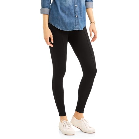 6c14d921c49 Faded Glory - Women s Front Seam Pull-On Ponte Leggings - Walmart.com