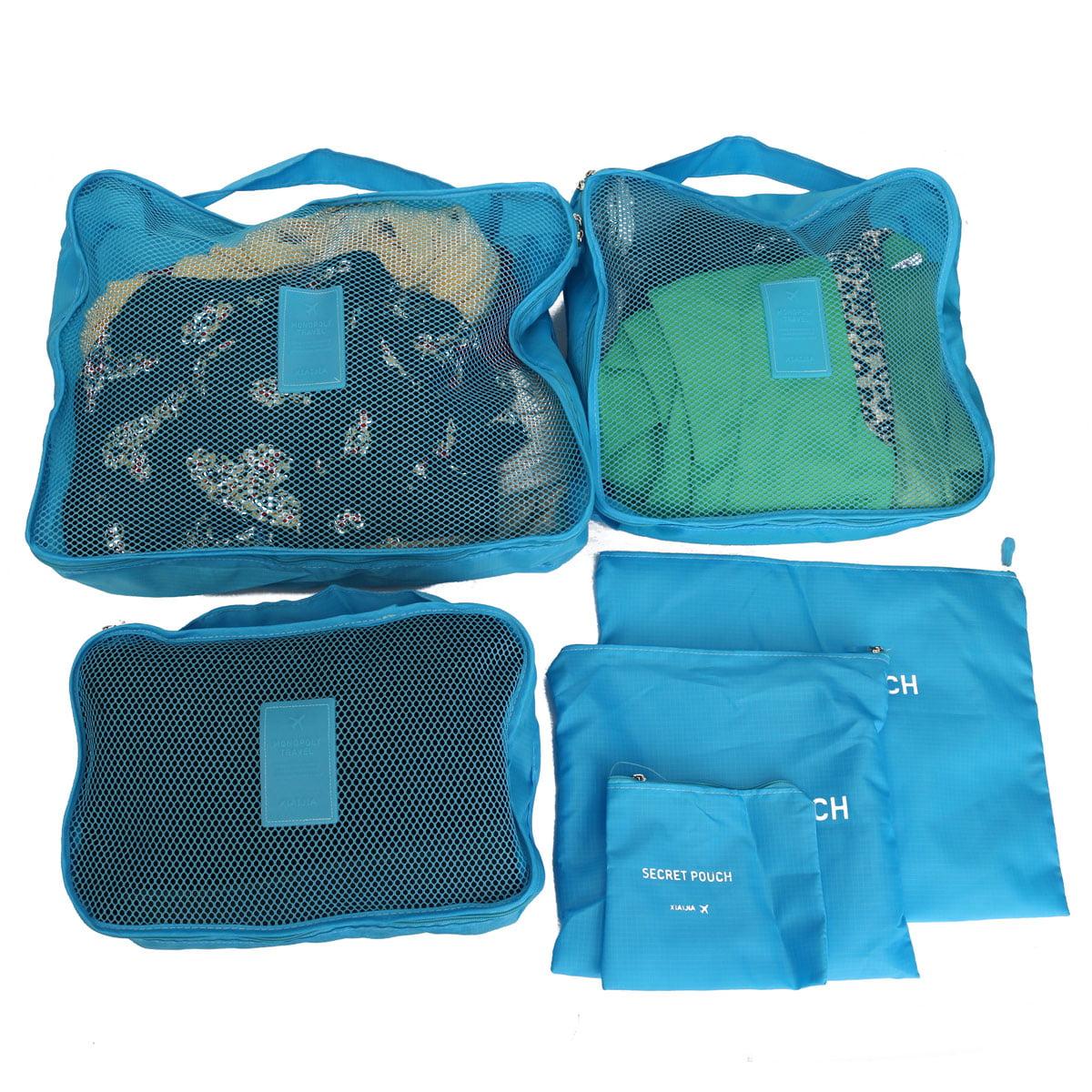 d1f1b4861066 Meigar 6Pcs Waterproof Clothes Storage Bags Travel Luggage Organizer ...