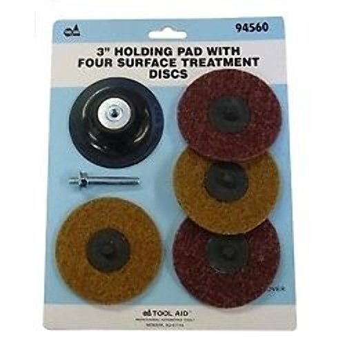 "S & G Tool Aid 94560 3"" Holding Pad With Four Surface Treatment Discs"