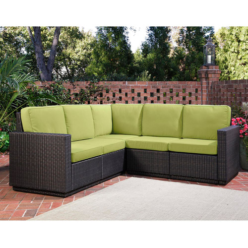 Home Styles Riviera Outdoor 5-Seat L-Shape Sectional Sofa, Multiple Colors