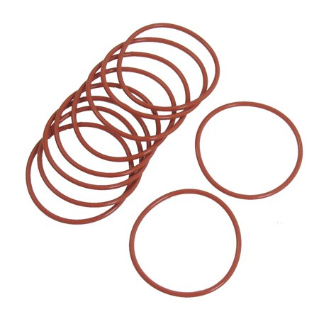 44mm External Dia. 2mm Thickness Oil Seal O Rings Gaskets Red 10pcs - image 1 of 1