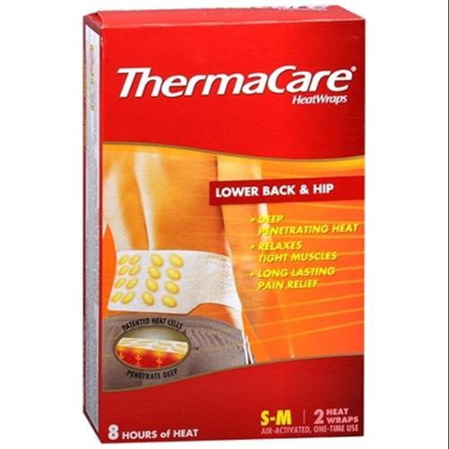 ThermaCare Heatwraps Small-Med Back & Hip 2 Each (Pack of 3)