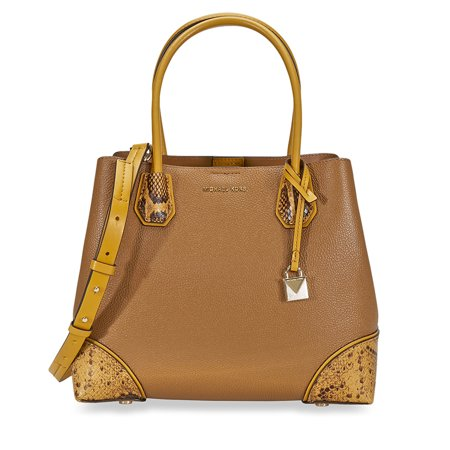 Michael Kors Mercer Gallery Pebbled Leather Shoulder Bag - Acorn