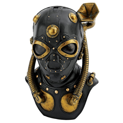 Click here to buy Design Toscano Steampunk Apocalypse Gas Mask Sculpture by Design Toscano.