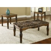 3-Pc Coffee Table in Dark Brown