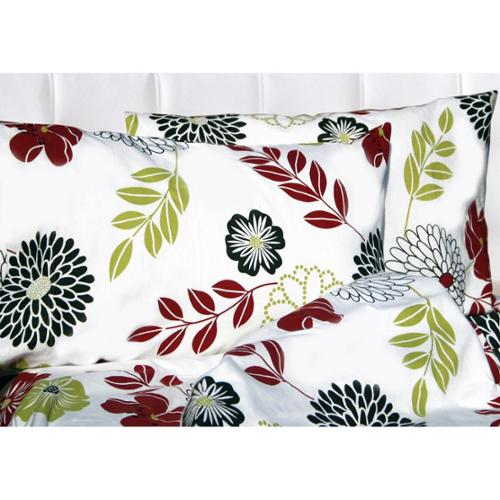 Tribeca Living Floral Printed Extra Deep Pocket Flannel Sheet Set King