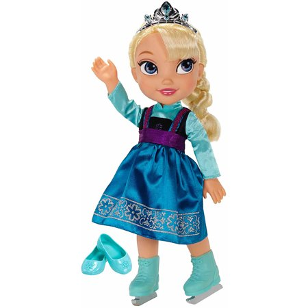 Disney Princess Deluxe Toddler Elsa with Ice Skating Fashions and