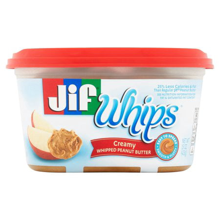 (3 Pack) Jif Whips Creamy Whipped Peanut Butter Spread,