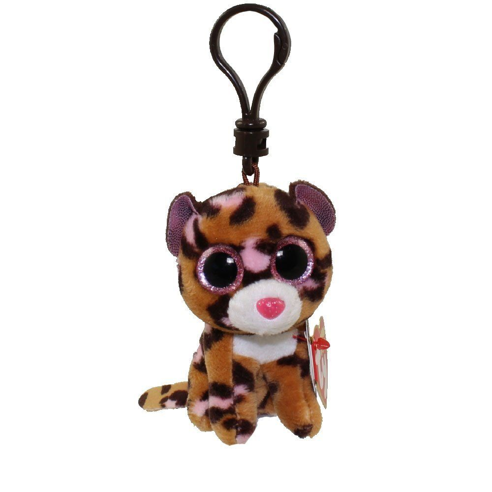 Patches Brown Leopard Boo Clip Stuffed Animal By Ty 35008