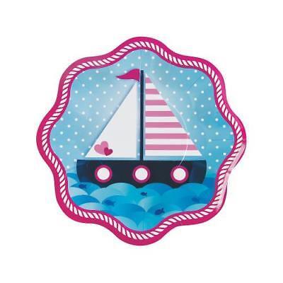 IN-13733944 Nautical Girl Paper Dinner Plates 1 Set(s) 2PK