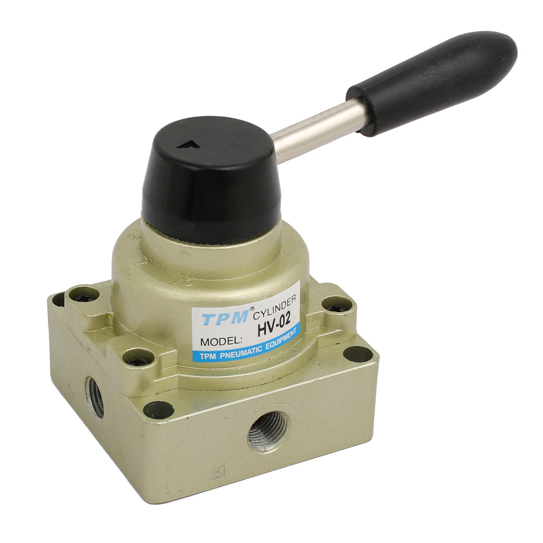 Manual Pneumatic 3 Positions 4 Way 1/4BSP HV-02 Hand Operated Lever Air Valve - image 3 of 3
