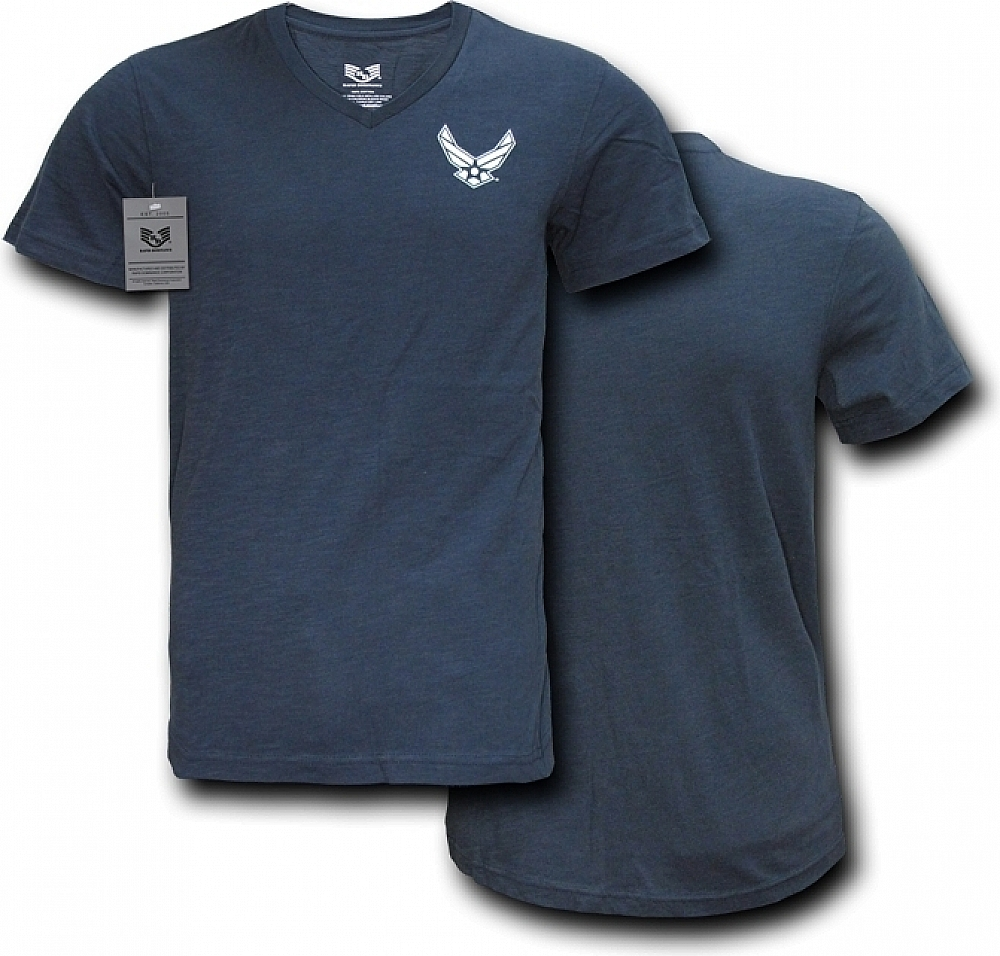 Rapid Dominance S21-AIR-NVY-03 Military V-Neck Tee, Air Force, Navy, Large