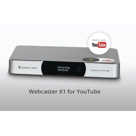 epiphan Webcaster X1 for YouTube - Web broadcaster