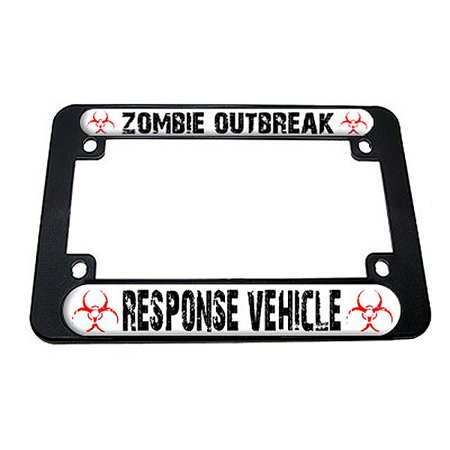 Zombie Outbreak Response Vehicle - Apocalypse Motorcycle License Plate (Best Vehicle For A Zombie Apocalypse)
