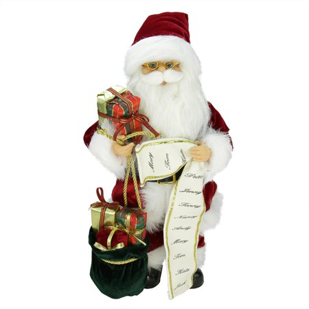 16 Quot Traditional Standing Santa Claus Christmas Figure With