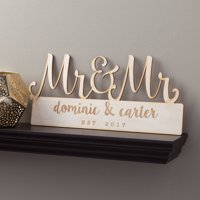 Mr. and Mr. Personalized Wood Plaque