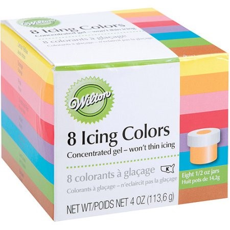Icing Colors 1/2 Ounce 8/Pkg-Assorted Colors