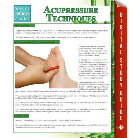 Acupressure Techniques (Speedy Study Guides) -