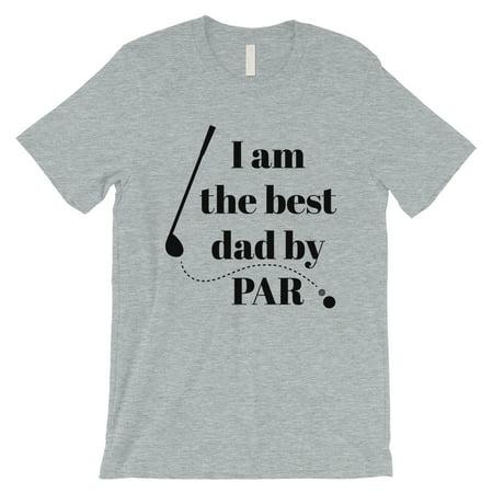 Best Dad By Par Golf Mens Grey Shirt ()