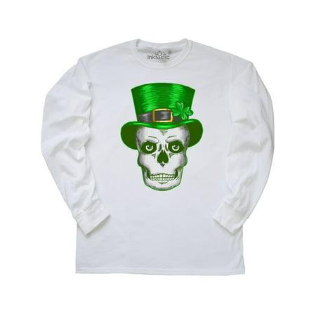 Skull with St Patricks Day Hat Long Sleeve - St Patricks Day Hats Cheap