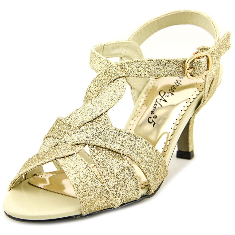 Easy Street Glamorous Open Toe Canvas Sandals by Easy Street