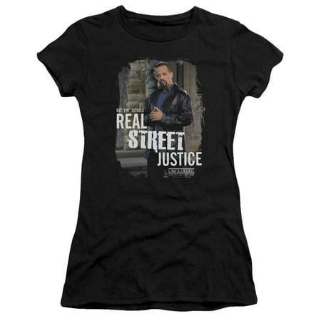 Law & Order Svu Crime Drama TV Series Street Justice Juniors Sheer T-Shirt Tee