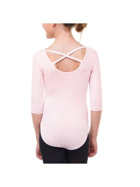 cac5a2a70 Product Image Danskin Now Girls' 3/4 Sleeve Premium Dance Leotard With  Strappy Back