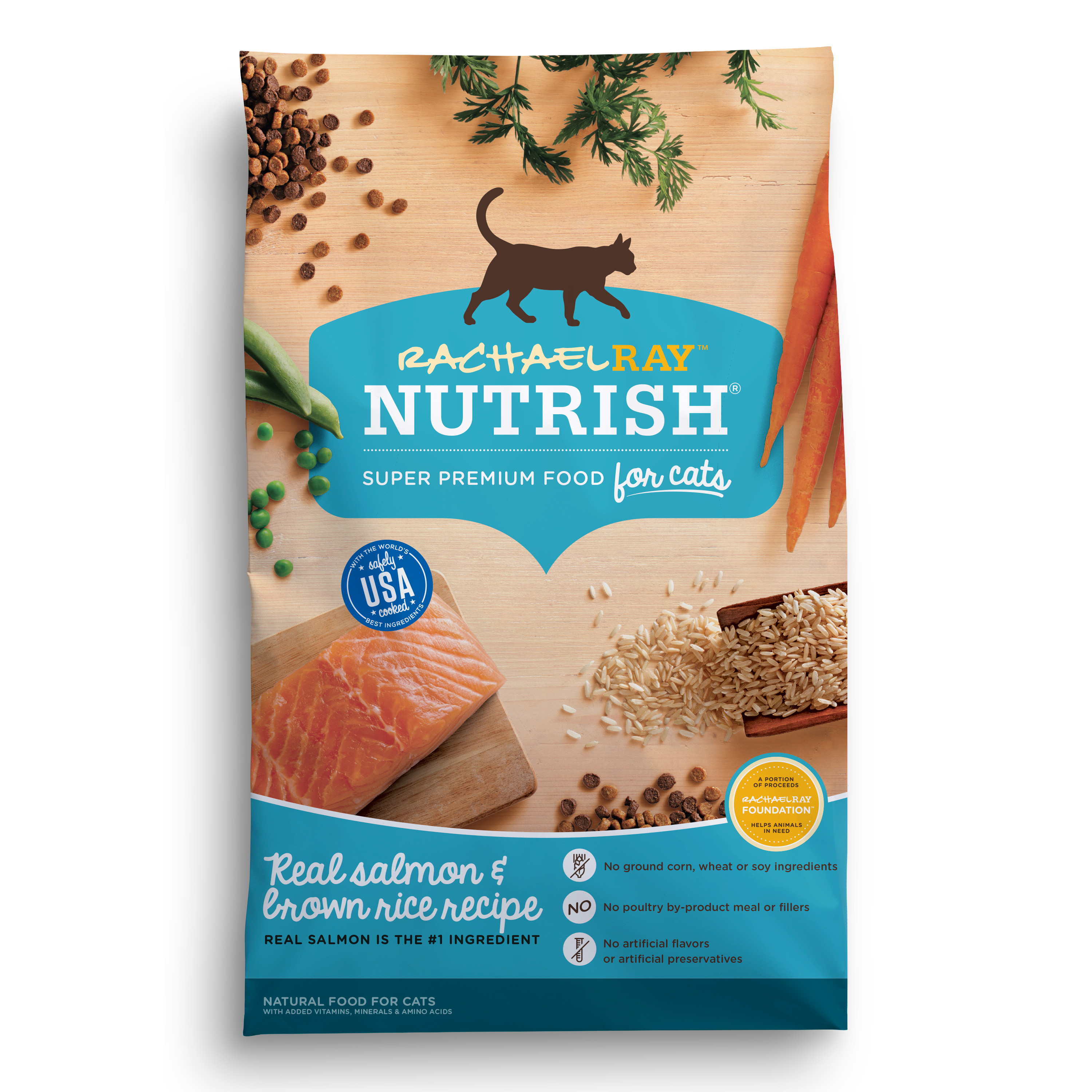 Rachael Ray Nutrish Salmon & Brown Rice Natural Dry Cat Food (Various Sizes)