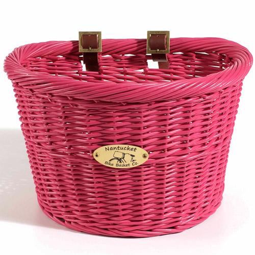 Adult Cruiser Basket, D-Shape, Pink