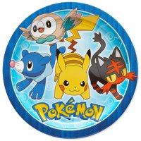 American Greetings Pokemon Party Supplies Paper Disposable Dinner Plates, 8-Count