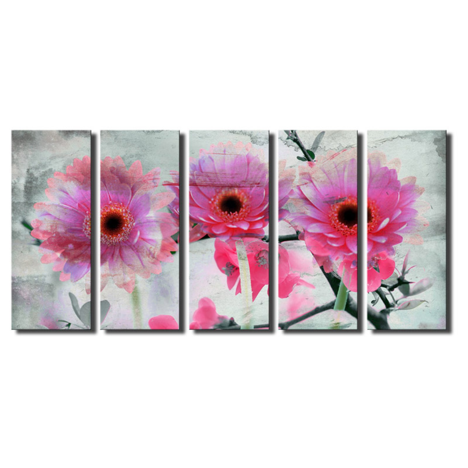 Ready2HangArt Painted Petals XLVI Canvas Wall Art - 5 pc. Set