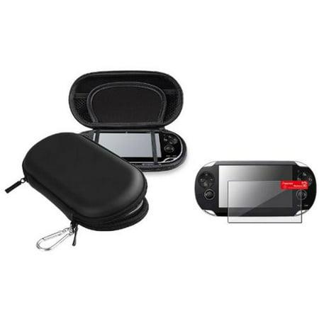 Insten Black Hard EVA Carry Case Bag+Screen Protector For Sony PS Vita PSV