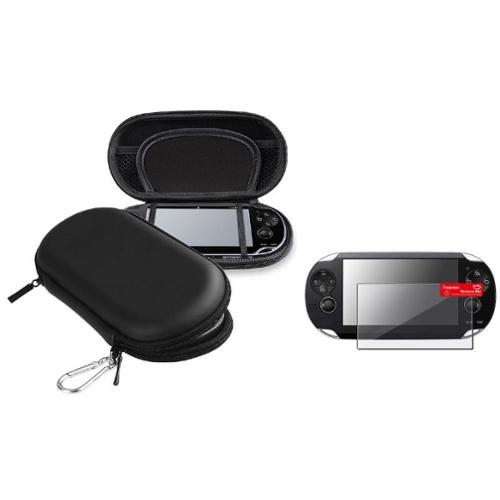 Insten Black Hard EVA Carry Case Bag+Screen Protector For Sony PS Vita PSV