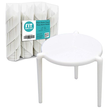[200 Pack] Pizza Saver Stand - White Plastic Tripod Stack / Stax for Restaurant Container, Catering boxes and Food Take Out Service - Halloween Restaurant Food Ideas