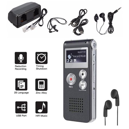 Professional Multifunctional 8GB 650Hr Audio Sound Voice Recorder Dictaphone MP3 Player with 3D Sound Meeting](Halloween Sound Effects-special Mp3)