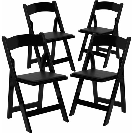 Tremendous Flash Furniture 4 Pack Hercules Series Wood Folding Chair With Vinyl Padded Seat Multiple Colors Download Free Architecture Designs Itiscsunscenecom