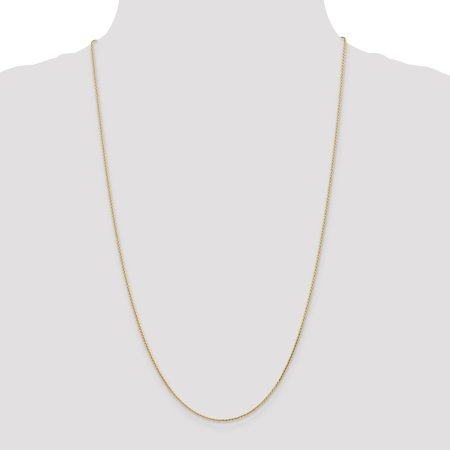 14K Yellow Gold 1.0mm Diamond Cut Wheat Chain - image 2 de 4