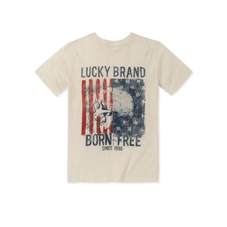 8103833b42d5 Lucky Brand - Boy's Short Sleeve Graphic Tee - Walmart.com