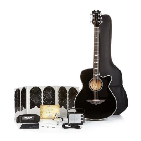 Keith Urban Acoustic Electric Guitar On Tour 40-pc Guitar Pkg, Rich Black, Right (Keith Urban Halloween)
