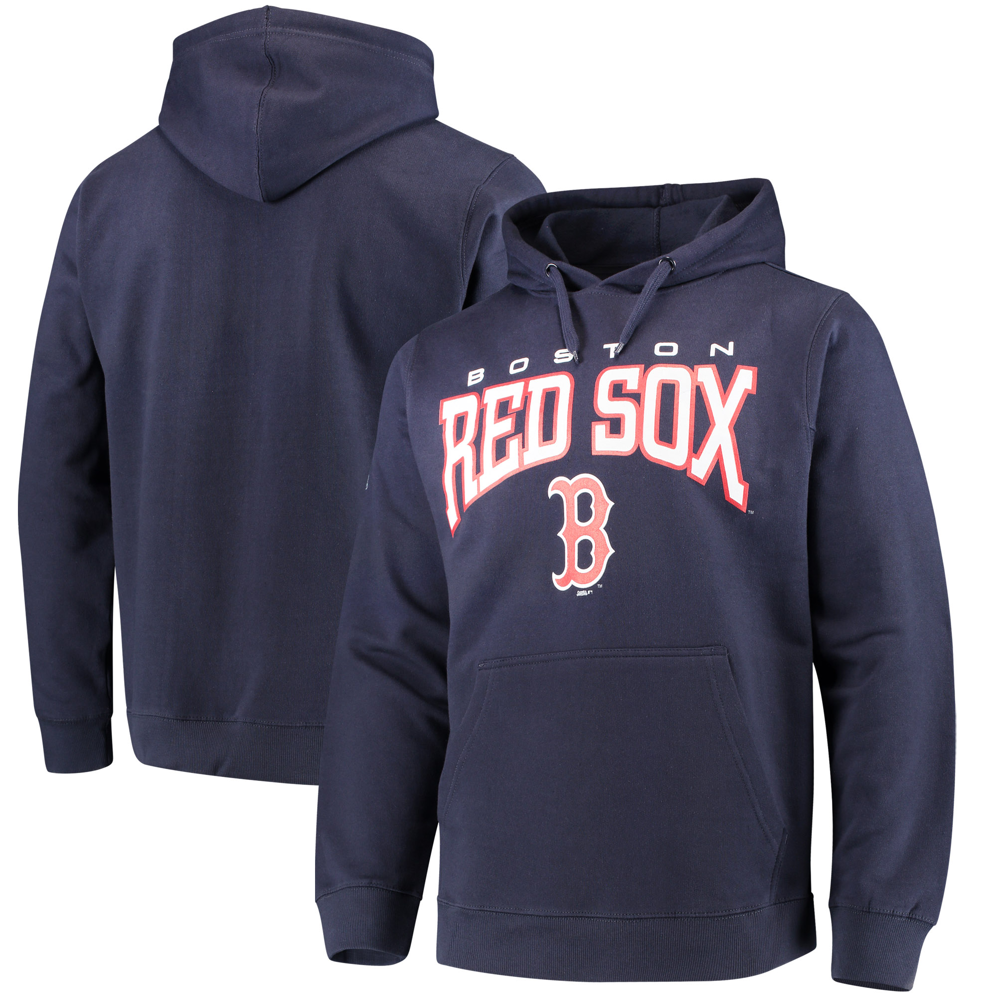 Boston Red Sox Stitches Team Pullover Hoodie - Navy
